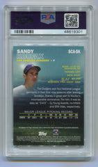 2016 Stadium Club Autographs Gold #SCASK Sandy Koufax #03/25 PSA 7 | Eastridge Sports Cards