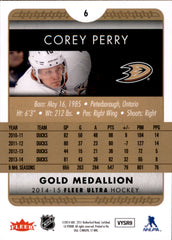 2014-15 Fleer Ultra Gold Medallion #006 Corey Perry | Eastridge Sports Cards