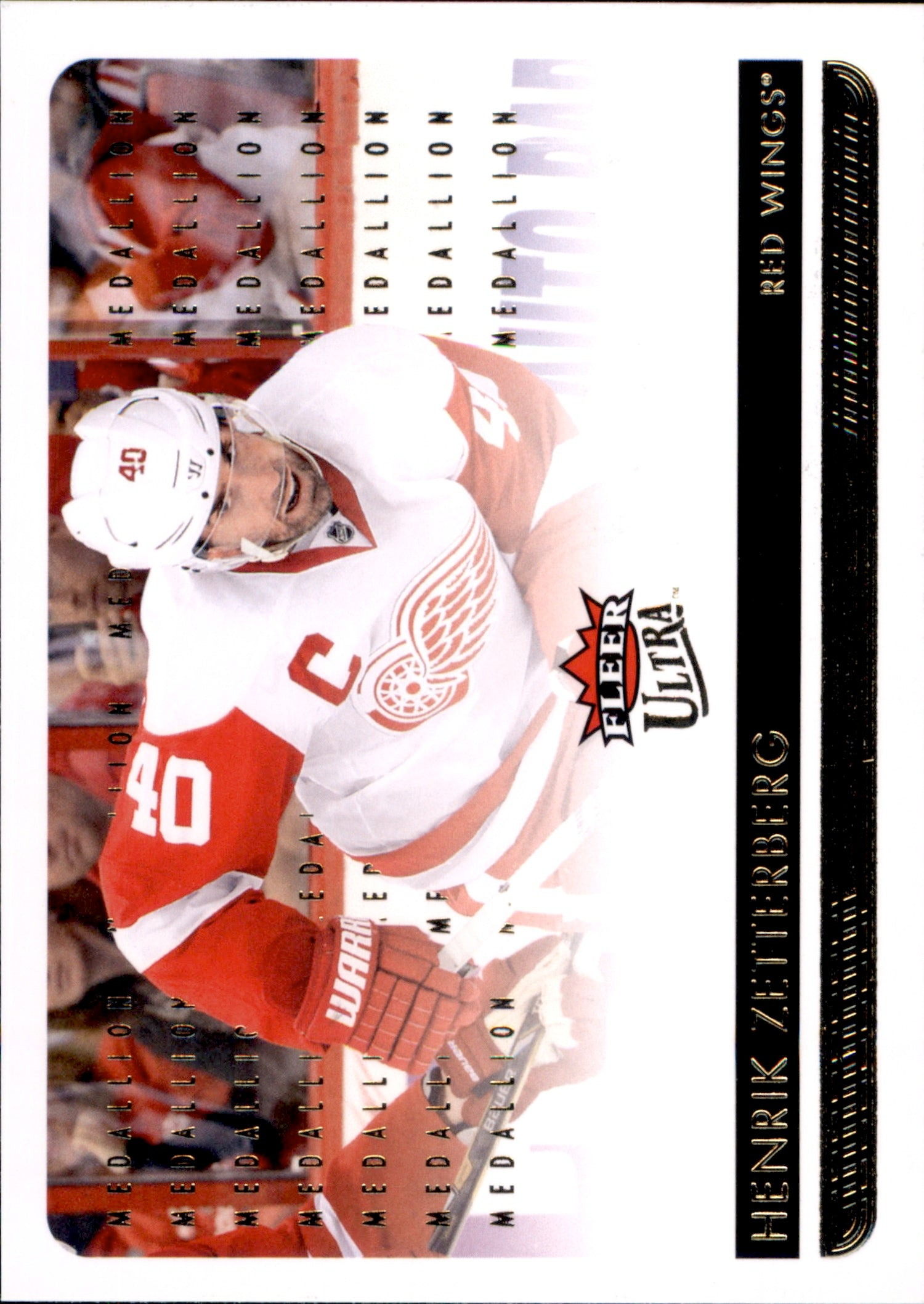2014-15 Fleer Ultra Gold Medallion #064 Henrik Zetterberg | Eastridge Sports Cards