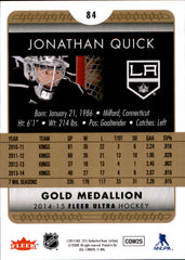 2014-15 Fleer Ultra Gold Medallion #084 Jonathan Quick | Eastridge Sports Cards