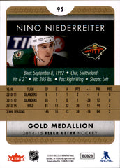 2014-15 Fleer Ultra Gold Medallion #095 Nino Niederreiter | Eastridge Sports Cards