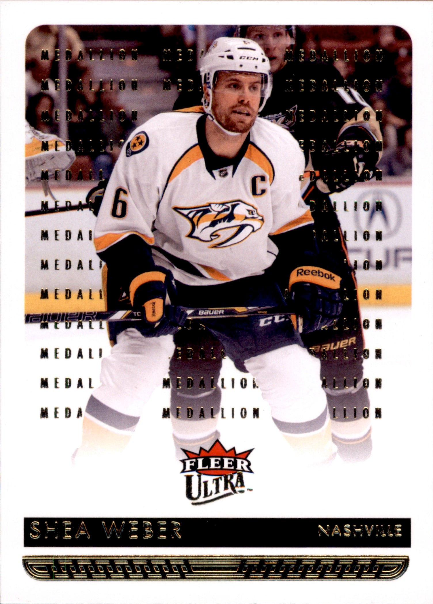 2014-15 Fleer Ultra Gold Medallion #105 Shea Weber | Eastridge Sports Cards