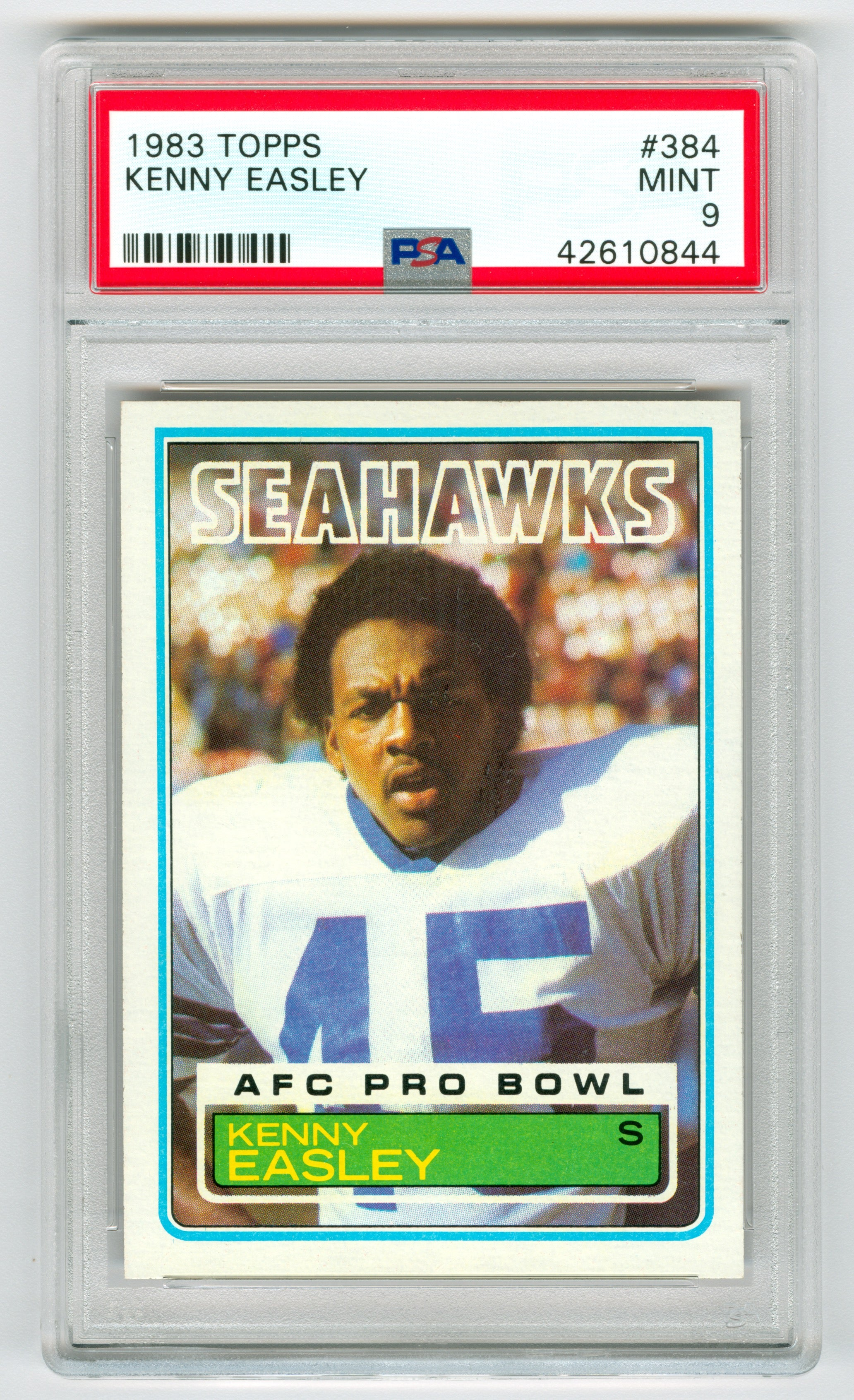 1983 Topps #384 Kenny Easley PSA 9 (Rookie) | Eastridge Sports Cards