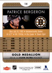 2014-15 Fleer Ultra Gold Medallion #014 Patrice Bergeron | Eastridge Sports Cards
