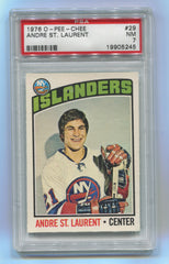 1976-77 O-Pee-Chee #29 Andre St.Laurent PSA 7 | Eastridge Sports Cards