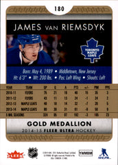 2014-15 Fleer Ultra Gold Medallion #180 James van Riemsdyk | Eastridge Sports Cards