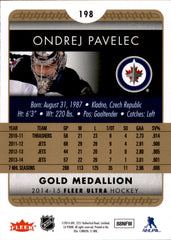 2014-15 Fleer Ultra Gold Medallion #198 Ondrej Pavelec | Eastridge Sports Cards