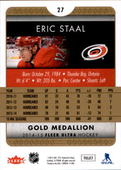 2014-15 Fleer Ultra Gold Medallion #027 Eric Staal | Eastridge Sports Cards