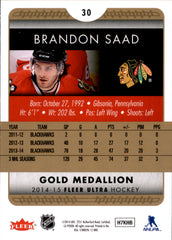 2014-15 Fleer Ultra Gold Medallion #030 Brandon Saad | Eastridge Sports Cards