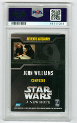 2007 Star Wars 30th Anniversary Autographs John Williams PSA 8 | Eastridge Sports Cards