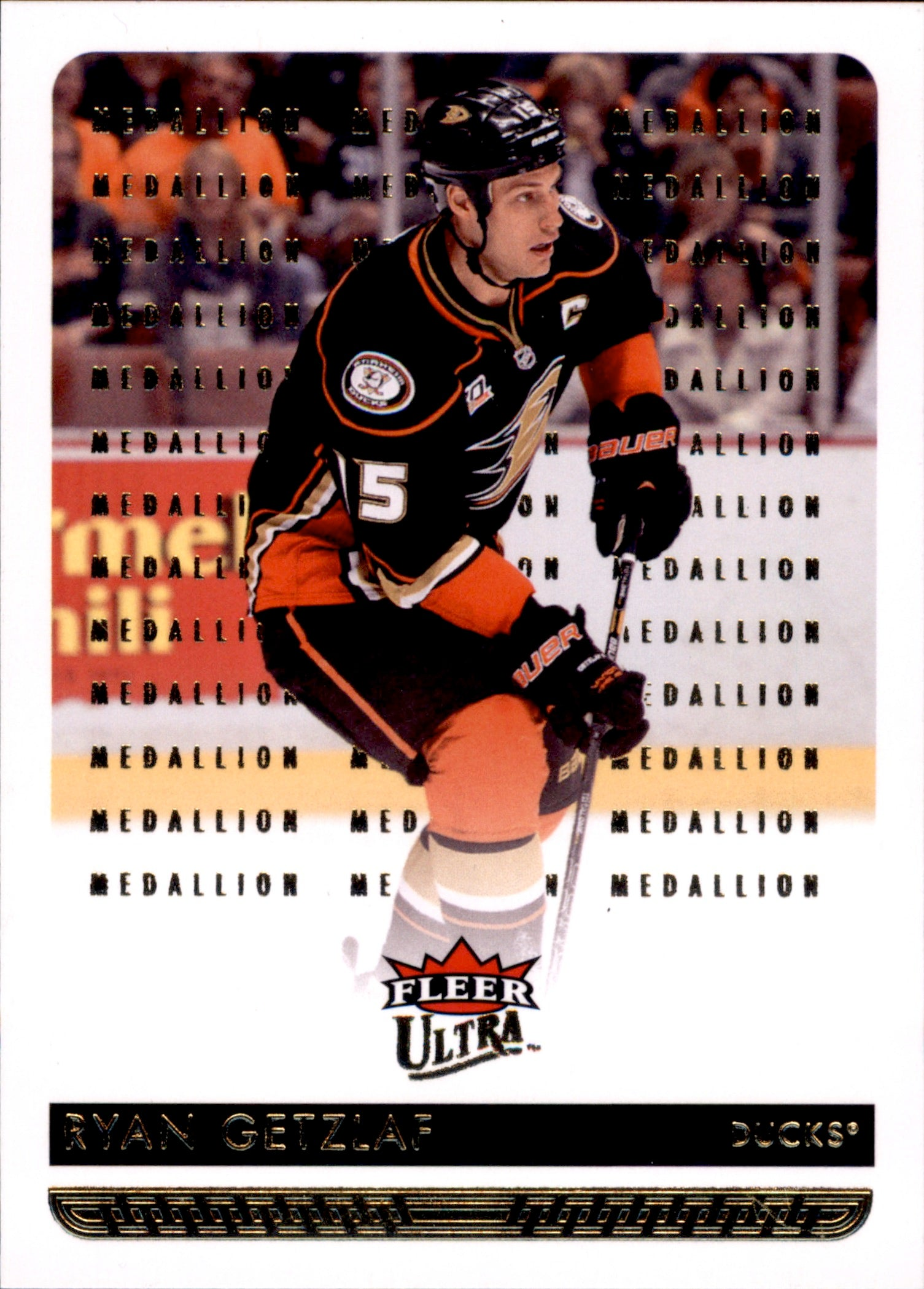 2014-15 Fleer Ultra Gold Medallion #005 Ryan Getzlaf | Eastridge Sports Cards