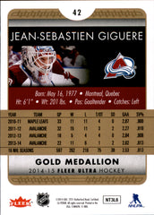 2014-15 Fleer Ultra Gold Medallion #042 Jean-Sebastien Giguere | Eastridge Sports Cards