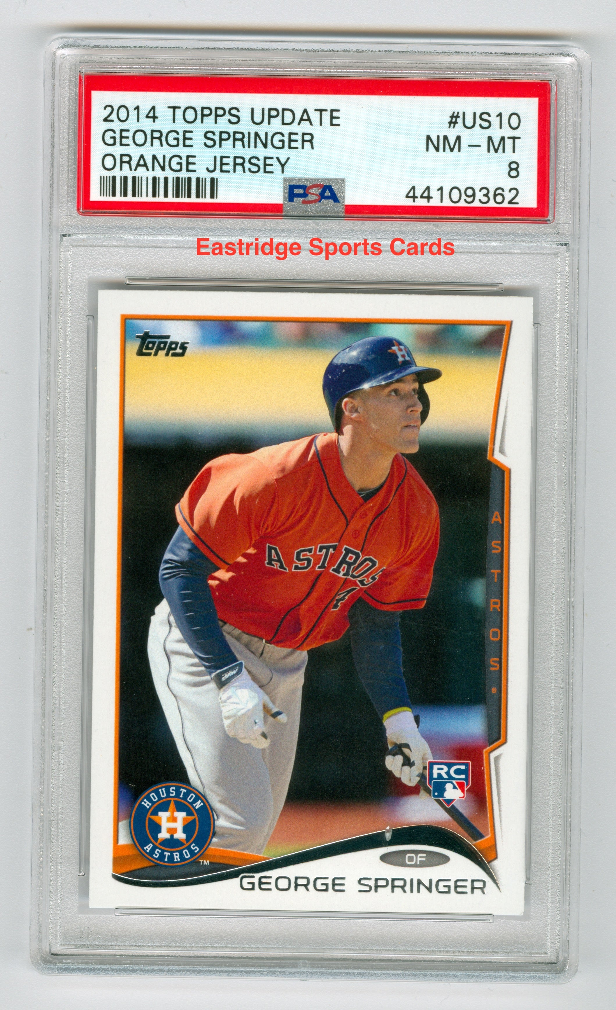 2014 Topps Update #US10 George Springer Orange Jersey PSA 8 (Rookie) | Eastridge Sports Cards
