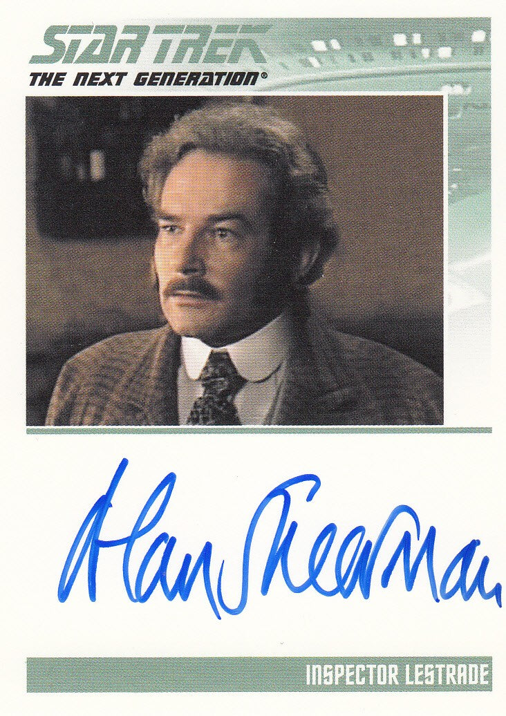 2011 Complete Star Trek The Next Generation Autographs #NNO - Alan Shearman as Inspector Lestrade | Eastridge Sports Cards