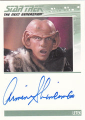 2011 Complete Star Trek The Next Generation Autographs #NNO - Armin Shimerman as Letek | Eastridge Sports Cards