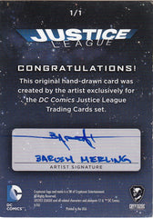 2016 DC Comics Justice League Sketches #6 Barush Merling | Eastridge Sports Cards
