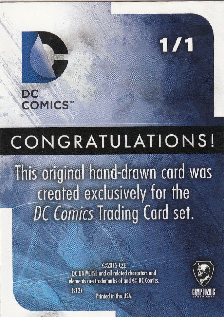 2012 Cryptozoic DC Comics New 52 Artist Sketches  1/1 | Eastridge Sports Cards