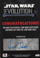 2016 Star Wars Evolution Sketches #NNO Scott Jones - Luke 1/1 | Eastridge Sports Cards