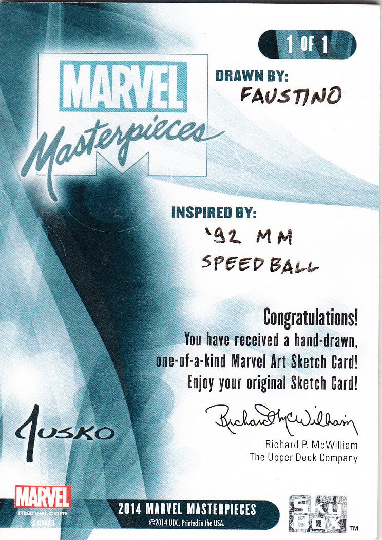 2014 Marvel Masterpieces Sketch - Jim Faustino 1/1 | Eastridge Sports Cards