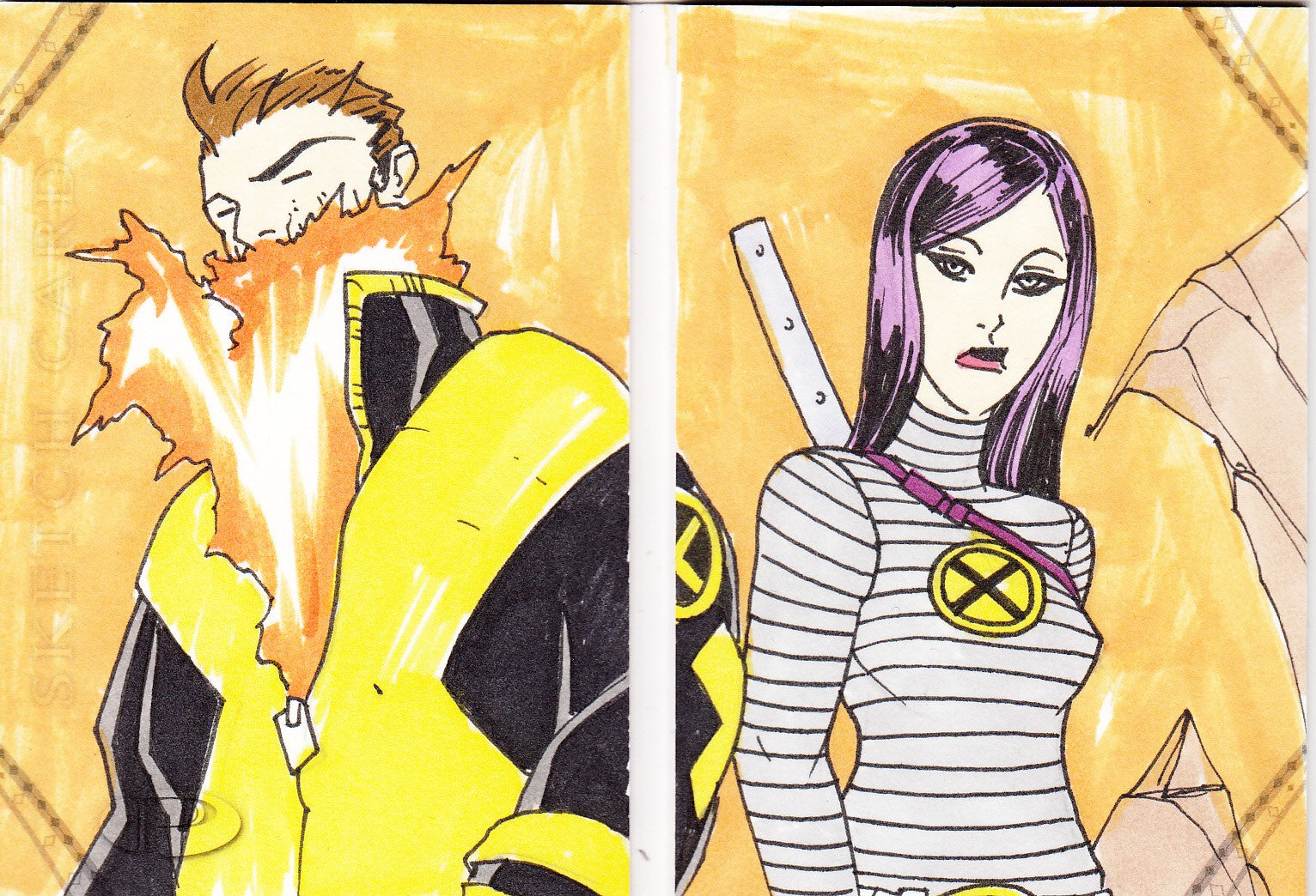 2014 Marvel Premier Sketches Booklets #11 Boo - New X-Men | Eastridge Sports Cards