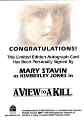 2013 James Bond Autographs and Relics Autographs - Mary Stavin VERY LIMITED | Eastridge Sports Cards