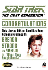 2013 Star Trek The Next Generation Heroes and Villains Autographs #NNO - Brenda Strong as Rashella | Eastridge Sports Cards