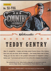 2015 Country Music Silhouette Signature Materials #SI-TEG - Teddy Gentry #/338 | Eastridge Sports Cards