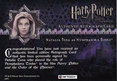2007 Harry Potter and the Order of the Phoenix Update Autographs - Natalia Tena as Tonks | Eastridge Sports Cards