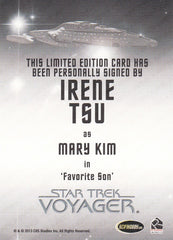 2015 Star Trek Voyager Heroes and Villains Autographs #NNO - Irene Tsu as Mary Kim | Eastridge Sports Cards