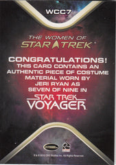 2010 Women of Star Trek Costumes #WCC7 Seven of Nine | Eastridge Sports Cards