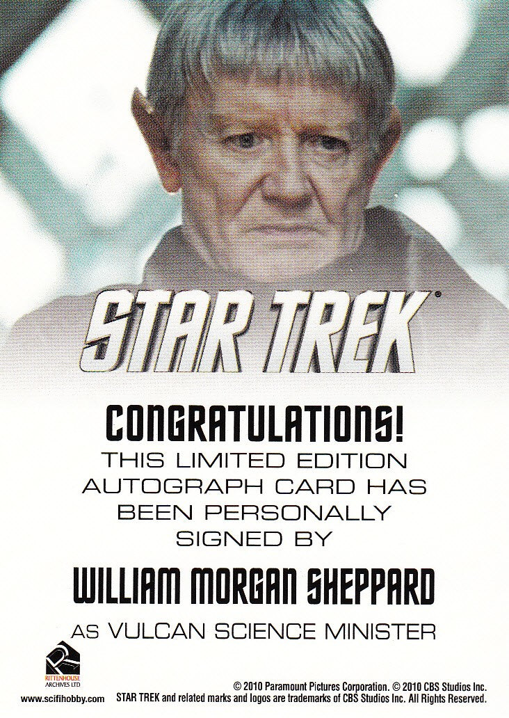 2014 Star Trek Movies Autographs #NNO - William Morgan Sheppard as Vulcan Minister | Eastridge Sports Cards