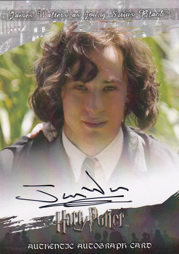 2008 World of Harry Potter 3-D Series Two Autographs - James Walters as Young Sirius Black | Eastridge Sports Cards
