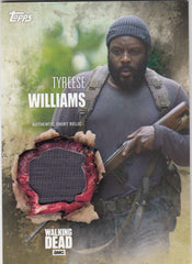 2016 The Walking Dead Season 5 Relics #NNO Tyreese Williams - Shirt | Eastridge Sports Cards
