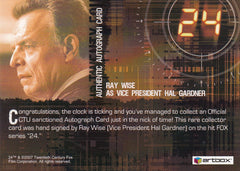 2008 24 Season Five Autographs - Ray Wise as Vice President Gardner | Eastridge Sports Cards