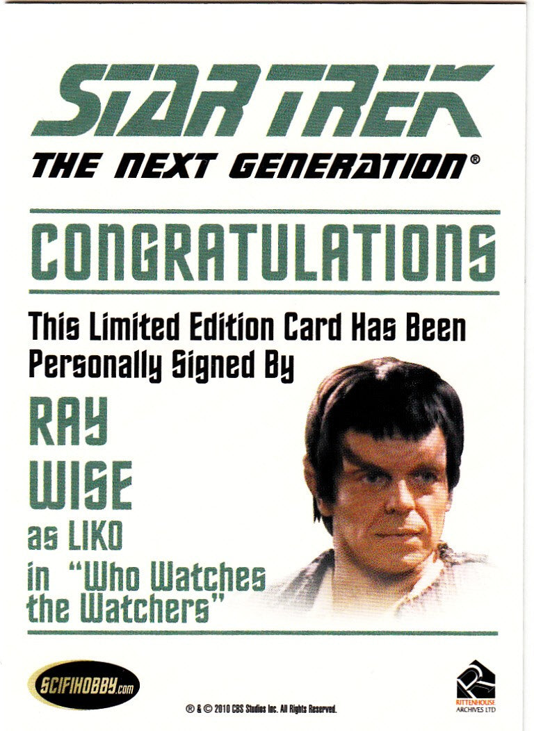 2011 Complete Star Trek The Next Generation Autographs #NNO - Ray Wise as Liko | Eastridge Sports Cards