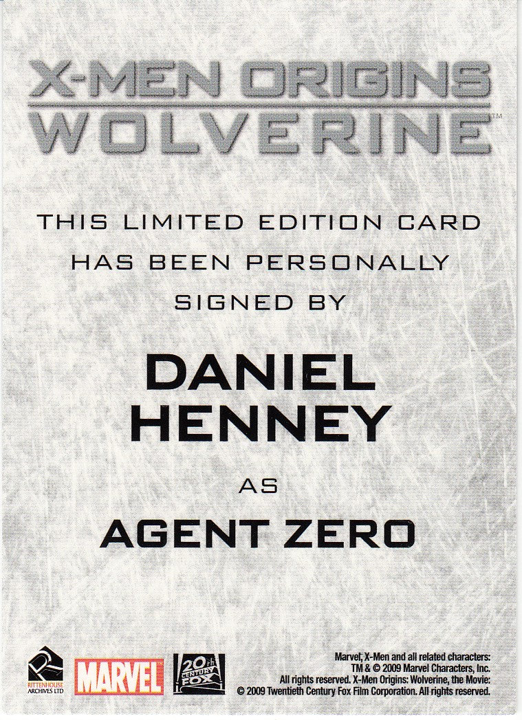 2009 X-Men Origins Wolverine Autographs - Daniel Henney as Agent Zero | Eastridge Sports Cards