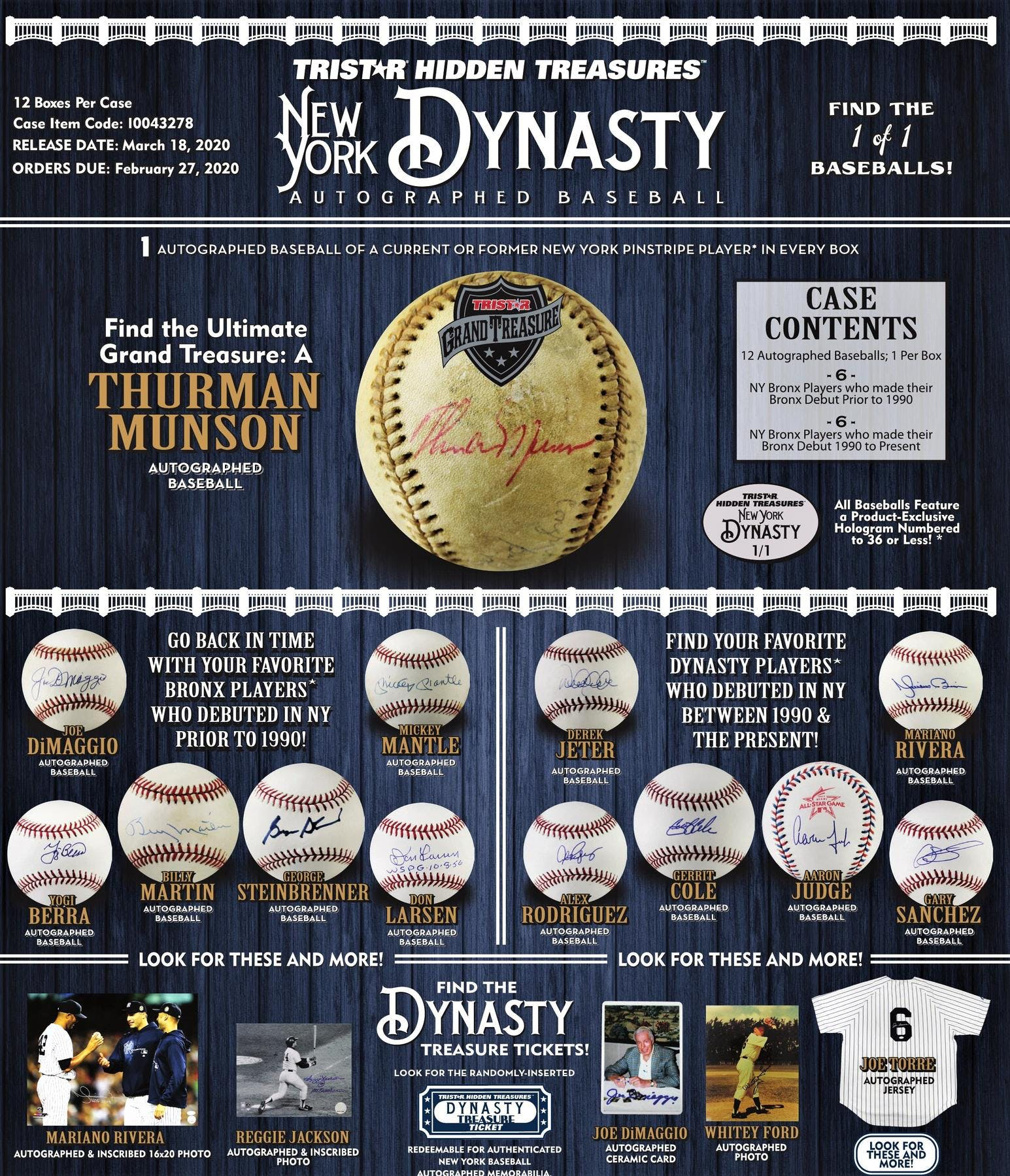 2020 TriStar New York Dynasty Baseball Hobby Box | Eastridge Sports Cards
