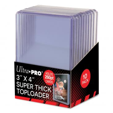 "Ultra Pro 3"" x 4"" Super Thick 260pt Toploaders 10ct 