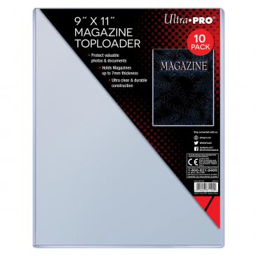 "Ultra Pro 9"" X 11-1/4"" Thick Magazine Toploader 10ct 
