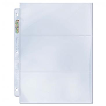 "Ultra Pro 3-Pocket Platinum Page with 3-1/2"" X 7-1/2"" Pockets 100ct 