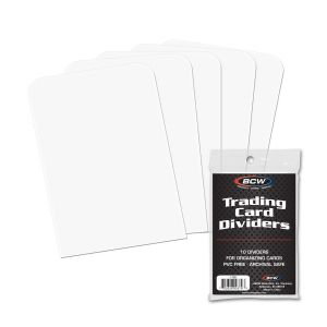 BCW Trading Card Dividers 10ct | Eastridge Sports Cards