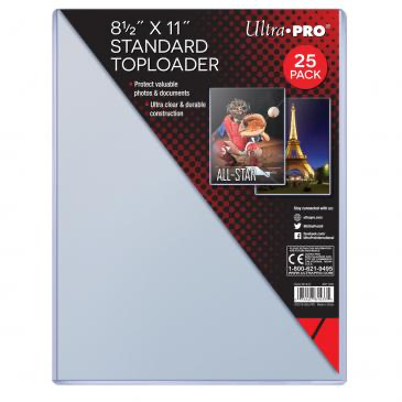 "Ultra Pro 8-1/2"" X 11"" Toploader 25ct 