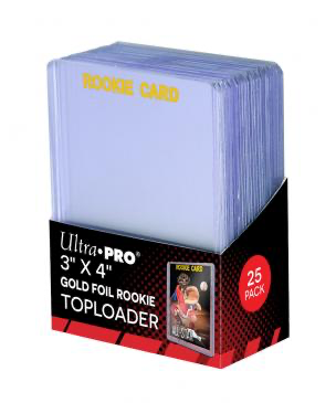 "Ultra Pro 3"" X 4"" Rookie Gold Toploaders 25ct 