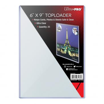 "Ultra Pro 6"" X 9"" Toploader 25ct 