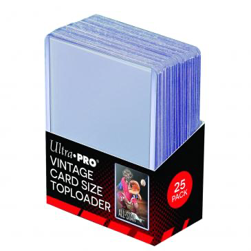 "Ultra Pro 2-5/8"" x 3-3/4"" Vintage Sized Toploaders 25ct 