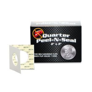 BCW Peel-N-Seal Flips 2x2 - Adhesive - Quarter | Eastridge Sports Cards