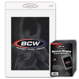 BCW Semi-Rigid Card Holder #1 (50 Ct.) | Eastridge Sports Cards