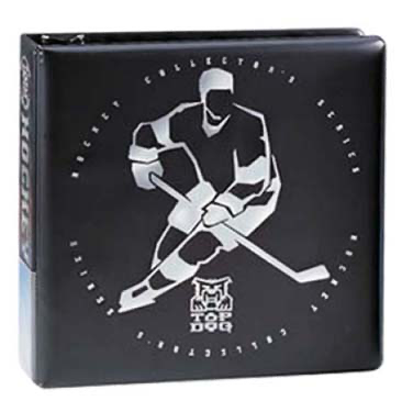 "Ultra Pro 3"" D-Ring Top Dog Hockey Black Album 