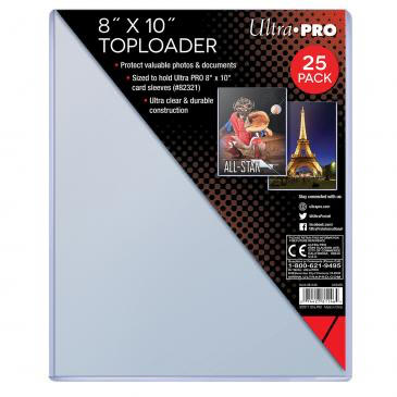 "Ultra Pro 8"" X 10"" Toploader 25ct (sized to fit 8x10 card sleeves) 