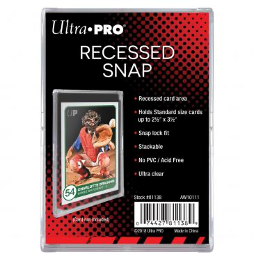 Ultra Pro Recessed Snap Card Holder | Eastridge Sports Cards